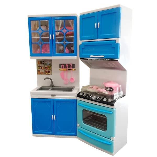 Envo Toys Kitchen Play Set Pretend Play Barbie Size Toy Kitchen
