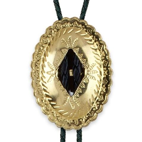 Concho Bolo Tie - Gold - One size