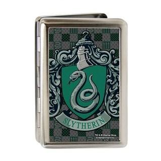 Harry Potter Slytherin Crest Fcg Green Gray Business Card Holder