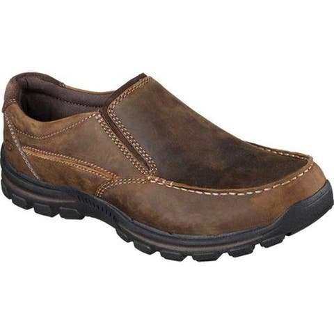 91fa2348f98d Skechers Men s Relaxed Fit Braver Rayland Slip On Dark Brown