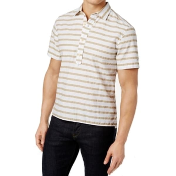 08e0a7a2 Shop Tommy Hilfiger NEW White Mens Size Medium M Polo Rugby Striped ...