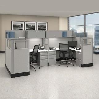 Link to Modular Office Workstations 53-67H 2pack Bullpen Powered Similar Items in Desks & Computer Tables