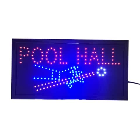 Neon Lights LED Animated Sign Lamp Billiards Pool Hall For Pool Cue house Bar Pub - Red