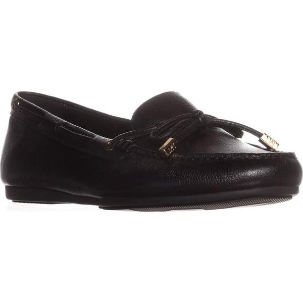 642747167df9ce Shop MICHAEL Michael Kors Sutton Moc Bow Moccasins, Black Leather ...