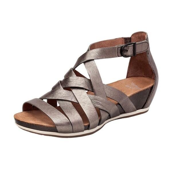 Dansko Shoes Womens Verona Vivian Open Toe Leather Pewter