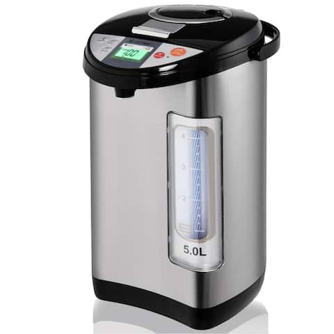 """5-liter Electric LCD Water Boiler and Warmer - 9"""" x 12"""" x 16"""" (L x W x D)"""