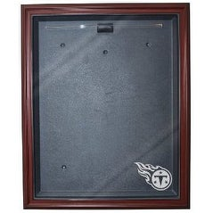 Football Jersey Deluxe Full Size Display Case Wood W Tennessee Titans Logo
