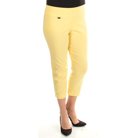 Womens Yellow Wear To Work Capri Pants Size 10