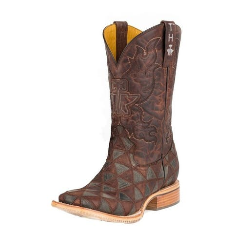 Tin Haul Western Boots Mens Anvil Square Brown