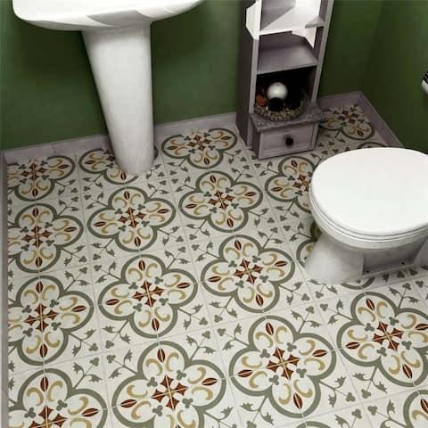 SomerTile 7.75x7.75-inch Renaissance Memory Ceramic Floor and Wall Tile (25 tiles/11 sqft.)
