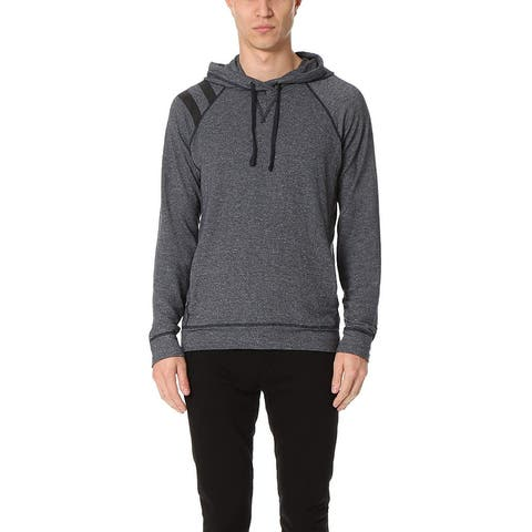 Splendid Mills Mens Sweater Blue Size 2XL Varsity Stripe Hooded Pullover