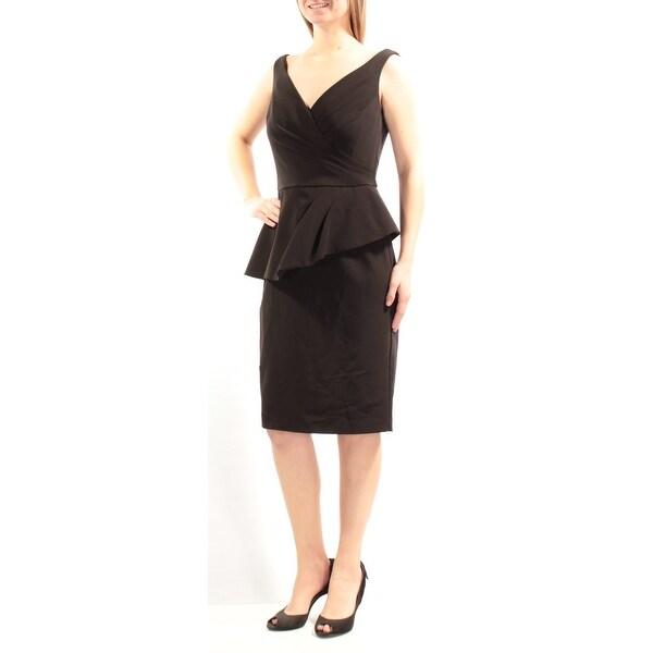 b2947d59acd1 Shop RALPH LAUREN Womens Black Sleeveless V Neck Knee Length Peplum  Cocktail Dress Size: 10 - Free Shipping On Orders Over $45 - Overstock -  21240868