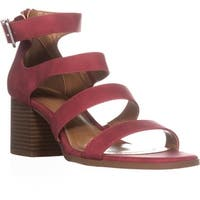 SC35 Naomii Strappy Heeled Sandals, Dark Cherry