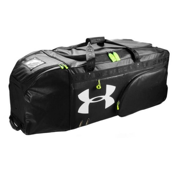 a142af45df Shop Under Armour UA XLRB XL Football Equipment Roller Bag Duffel Black  UASB-XLRB - Free Shipping Today - Overstock - 19292302