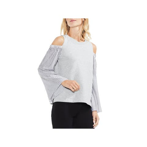 Vince Camuto Womens Top Cold Shoulder Bell Sleeve