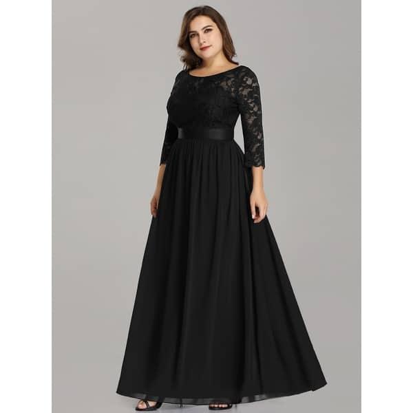 Shop Ever-Pretty Women\'s Plus Size Elegant Lace Evening ...