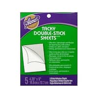 Aleene's Dry Adh Tacky Dbl Sided Sheets 5pc