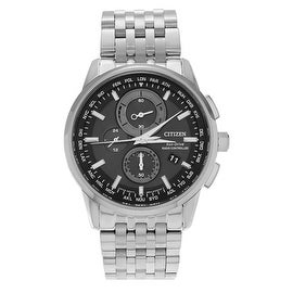 Citizen Men's Stainless Steel 'Eco Drive' AT8110-53E Chronograph Bracelet Watch