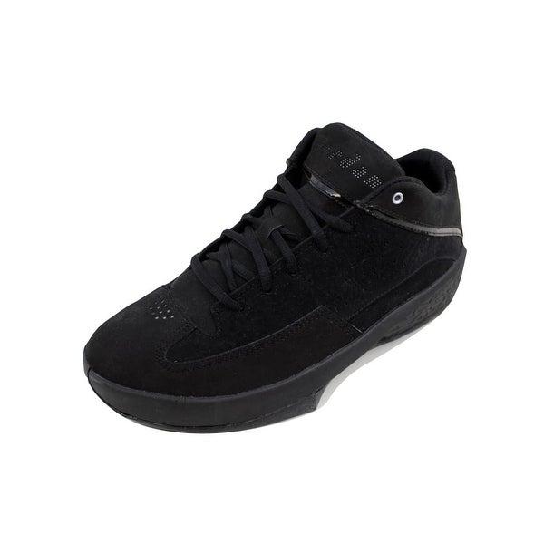 low priced 270e0 326c8 Nike Men's Air Jordan 2 Smooth Black/Metallic Silver-White 467815-001 Size 9