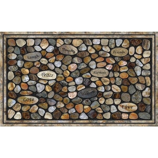 Apache Mills 60-771-5404-02200036 Buymats Inspirational Rocks Tiretuff Masterpiece 22 x 36 Mat