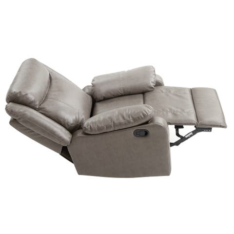 LYKE Home Putty Faux Leather Recliner