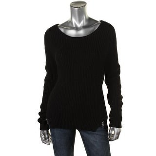 French Connection Womens Ribbed Long Sleeves Pullover Sweater