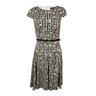 Jessica Howard Woman's Printed Belted Jersey Dress - 4P