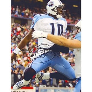 Vince Young Tennessee Titans Autographed 85x11 Photo This item comes with a certificate of authenti