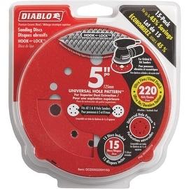 "Diablo 15Pk 5""220G Sanding Disc"