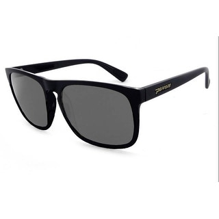 Peppers Polarized Sunglasses Yoka Matte Rubberized Black with Smoke Lens