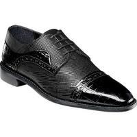 Stacy Adams Men's Rodrigo Cap Toe Oxford 25168 Black Leather
