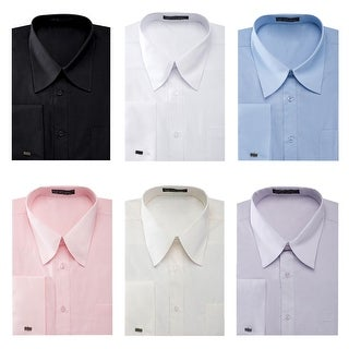 Men's French Cuff Pat Riley Collar Dress Shirt (More options available)