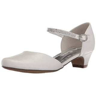 Nina Girls Cera Leather Buckle Pumps