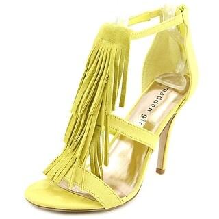 Madden Girl Demiiii Women Open Toe Canvas Yellow Sandals