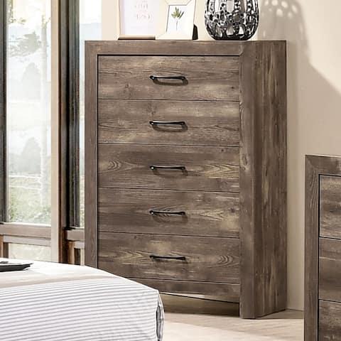 Furniture of America Ashland Rustic Natural Tone 5-drawer Chest