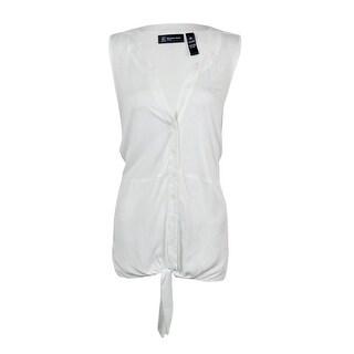 INC International Concept Women's Tie Front Blouse