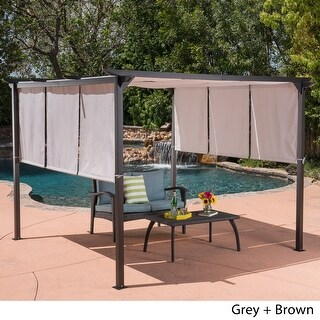 Link to Lawrence Outdoor Steel 9.5 foot Gazebo by Christopher Knight Home Similar Items in Gazebos & Pergolas