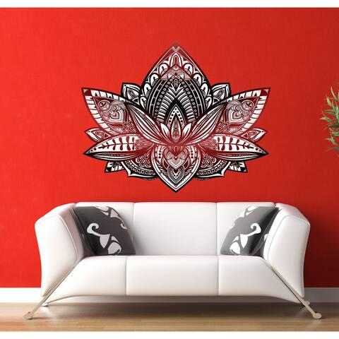Lotus Mandala Wall Decal, Lotus Mandala Wall sticker, Lotus Mandala wall decor, Lotus Mandala Wall Art