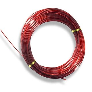 125' Vinyl Clad Steel Cable for Above Ground Swimming Pool Winter Covers - Red