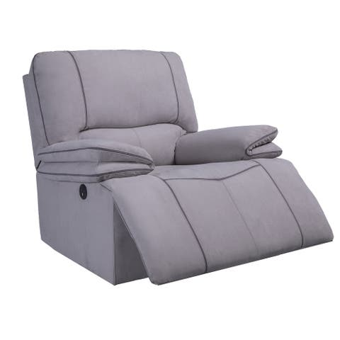 Global Furniture USA Light Grey Power Recliner