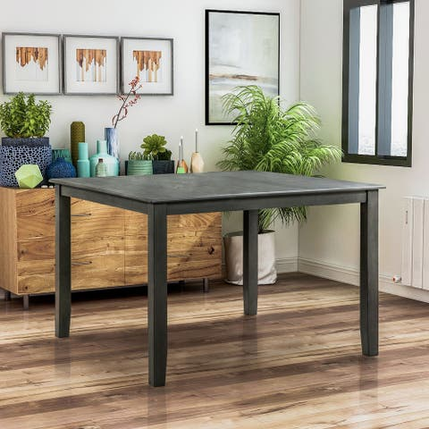 Furniture of America Weisse Transitional Gray Counter Dining Table