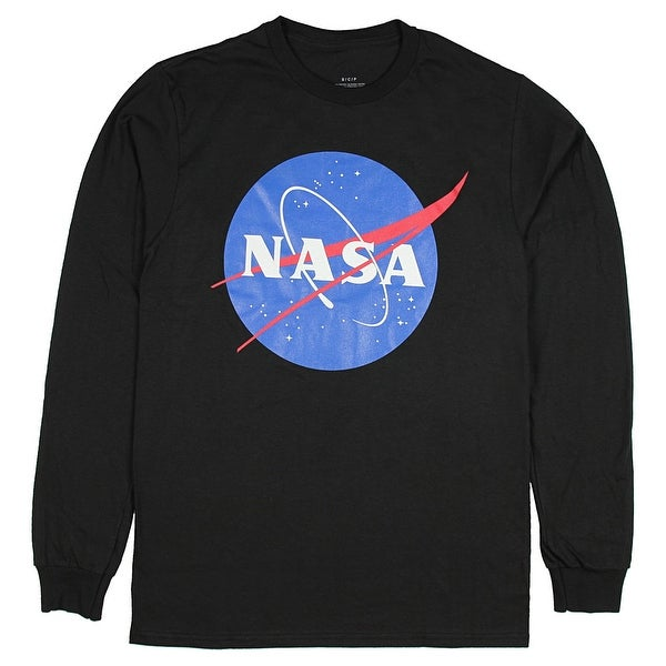 77ec80c55 NASA Shirt Men's Front Graphic Logo Space Long Sleeve Tee