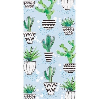 Pack of 192 Blue and Green 3-Ply Cactus Party Napkins 8