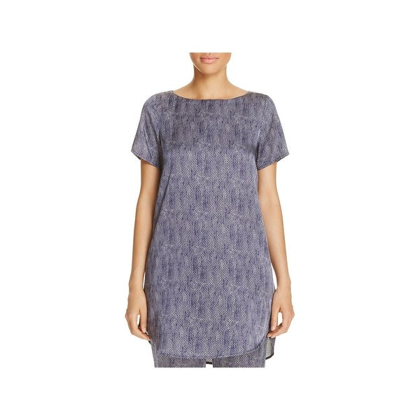 a55609ef969 Shop Eileen Fisher Womens Tunic Top Silk Prined - Free Shipping Today -  Overstock - 20908555