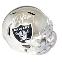 Bo Jackson Autographed Oakland Raiders Chrome Replica Helmet BAS