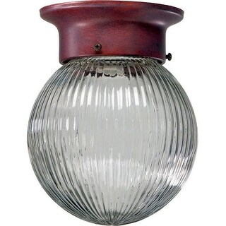 Quorum International Q3307-6 1 Light Flushmount Ceiling Fixture with Clear Ribbed Glass Shade