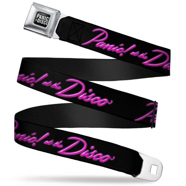 Panic! At The Disco Block Full Color Black White Panic! At The Disco Script Seatbelt Belt