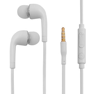 3.5mm Stereo In-Ear Earphones Headphones Earbuds White for Smartphone