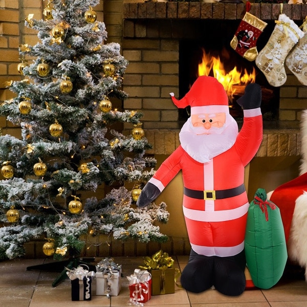 Costway 8 Ft Airblown Inflatable Christmas Xmas Santa Claus Gift Decor Lawn Yard Outdoor