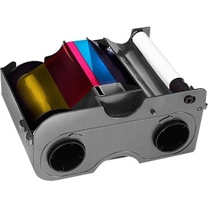 FARGO 45000 Fargo 45000 Ribbon - YMCKO - Dye Sublimation, Thermal Transfer - 250 Card - 1 Pack